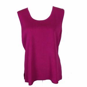 ming wang pink tank top blouse large